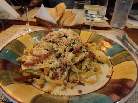 Fettuccine con zucchini no Tatini