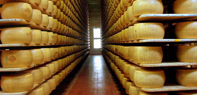 O queijo parmesão Parmigiano Reggiano